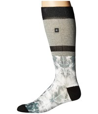 Richer Poorer Palms Athletic Heather Grey Men's Crew Cut Socks Shoes Gray