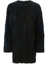 Sylvie Schimmel Rabbit Fur Short Coat Blue
