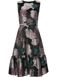 Co Floral Jacquard Dress Black