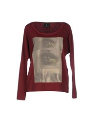 Maison Scotch Topwear T Shirts Women Maroon