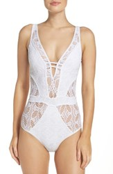 Becca Women's Color Play One Piece Swimsuit White