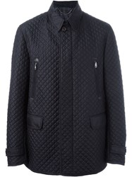 Brioni Zipper And Flap Pockets Jacket Blue