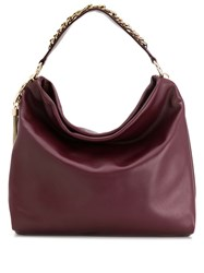 Jimmy Choo Callie Slouchy Tote Red