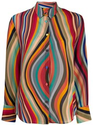 Paul Smith Ps Wave Pattern Shirt Red