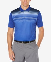 Pga Tour Men's Heathered Colorblocked Polo Surf The Web
