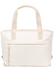 Borbonese Large Tote Bag Neutrals