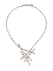 John Hardy Bamboo Sterling Silver Bib Necklace