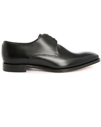 Loake Cornwall Black Leather Derbies