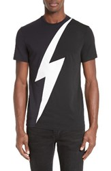 Neil Barrett Men's Lightning Bolt Colorblock T Shirt