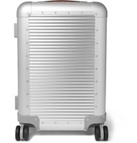 Fabbrica Pelletterie Milano Spinner 55Cm Aluminium Carry On Suitcase Silver