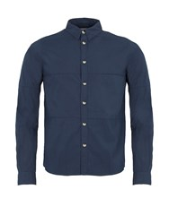Realm And Empire Cotton Relaxed Fit Long Sleeve Shirt Navy