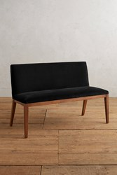 Anthropologie Velvet Emrys Bench Black