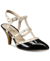 Rialto Mariella Strappy Pumps Women's Shoes Black Cream