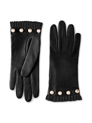 Gucci Studded Leather Gloves Black