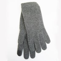 Portolano Tech Capable Cashmere Gloves Medium Heather Grey