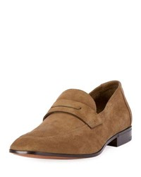 Berluti Capra Suede Loafer Brown