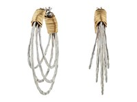 Robert Lee Morris Wire Wrapped Multi Row Hoop Earrings Two Tone Earring Metallic