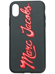Marc Jacobs Embossed Logo Iphone X Case Black