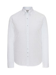 Peter Werth Henshall Polka Dot Shirt White