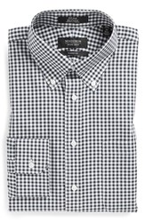 Men's Big And Tall Nordstrom Non Iron Classic Fit Gingham Dress Shirt Black Rock