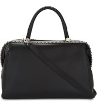 Max Mara Large Leather Bowling Bag Black