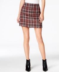 Sanctuary Siena Plaid Mini Skirt Red Plaid