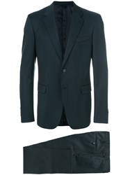 Prada Slim Fit Suit Blue