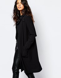 Y.A.S Media Soft Trench Coat Black