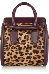 Alexander Mcqueen The Heroine Small Leather And Leopard Print Calf Hair Tote
