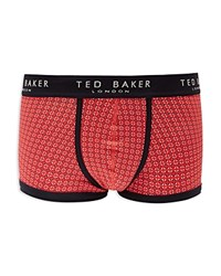 Ted Baker Dorab Printed Boxer Briefs Red