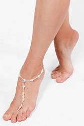 Boohoo Boutique Diamante Starfish Anklet Silver