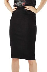 Topshop Women's Velvet Pencil Skirt