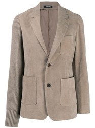 Undercover Corduroy And Knitted Blazer 60