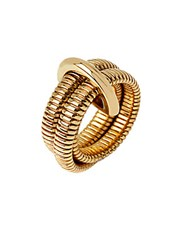 Diane Von Furstenberg Grand Prix Double Snake Ring Gold