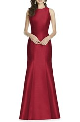 Alfred Sung Dupioni Trumpet Gown Barcelona
