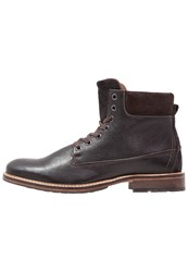 Pier One Laceup Boots Black Brown