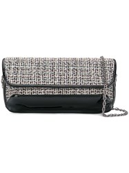 Rodo Embroidered Clutch Bag Black