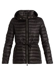 Moncler Raie Hooded Down Coat Black