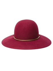 Lanvin Golden Chain Hat Red