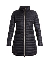 Moncler Bogue Quilted Down Coat Navy