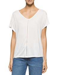 Calvin Klein Jeans Short Sleeve Boho Detail Top White Black