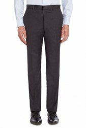 Chester Barrie Men's Ff Tropical Plainweave Trouser Anthracite