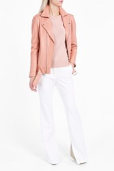 Theory Women S Tralsmin Leather Jacket Boutique1 Pink
