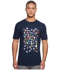 Ben Sherman Pin Badge Screen Tee Dark Navy Men's T Shirt
