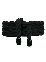 Lilly Sarti Rope Belt Women Cotton One Size Black