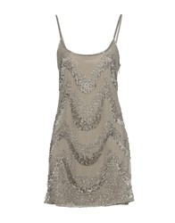 Walter Baker Short Dresses Grey
