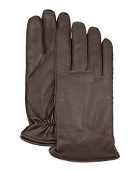 Ugg Whip Tech Leather Gloves Brown