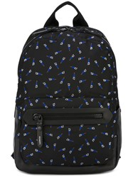Lanvin Saw Print Backpack Black