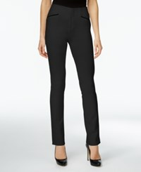 Inc International Concepts Curvy Straight Leg Pants Only At Macy's Deep Black