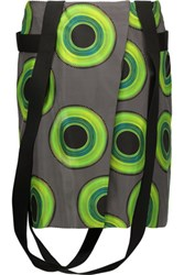 Acne Studios Printed Silk Satin Twill Mini Wrap Skirt Green